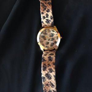 Betsey Johnson Leopard Watch